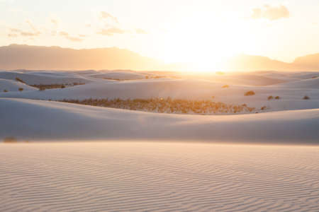 Sand dunes at white sands national monument New Mexico