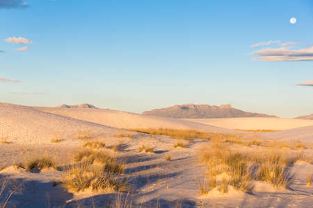 Sand dunes at white sands national monument [New Mexico, USA] Stock Photo