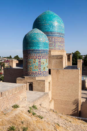 Architectural detail of the necropolis of Shakhi Zinda, Samarkand, Uzbekistan Reklamní fotografie