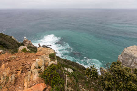 New lighthouse at Dias Point, Cape Point in the Table Mountain National Park. Stock fotó
