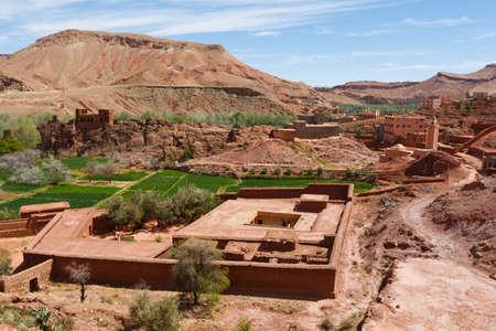 The fortified cities, kasbah or ksar, along the former caravan route between Sahara and Marrakesh .