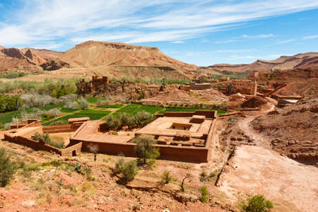 The fortified cities, kasbah or ksar, along the former caravan route between Sahara and Marrakesh in present day Morocco form part of todays popular tourist track called Route des Kasbahs