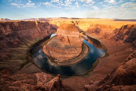 wide angle view of the famous Horseshoe Bend canyon on the Colorado River near Page, Arizona, USA