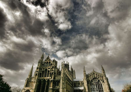 cambridgeshire: Dramatic sky over Ely Cathedral