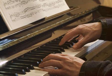 joueur de piano: Piano player Banque d'images