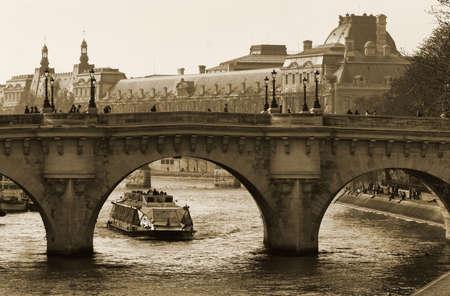 cite: Bridge of the Seine to the Isle de la Cite Stock Photo