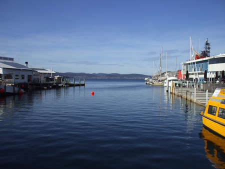 tasmania: Tasmania Hobart Habour Stock Photo