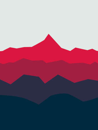 vector illustration of a mountain landscape in the background