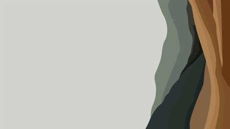 vector illustration of a mountain hill with grey background 일러스트