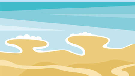 vector illustration of a waves on the beach
