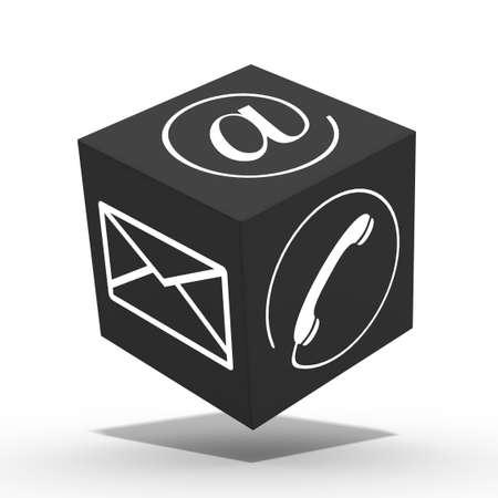 3d internet cube Stock Photo - 18483267