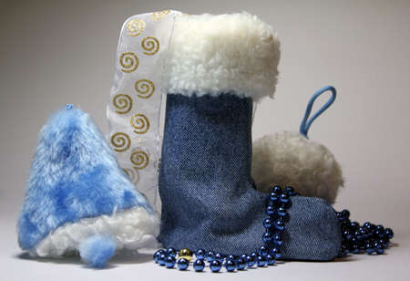 bell boots and snow Stock Photo