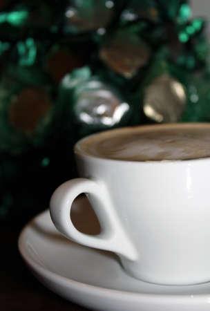 celebratory sip of coffee Stock Photo