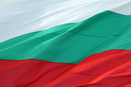 red white green colors of the flag of Bulgaria Stock Photo