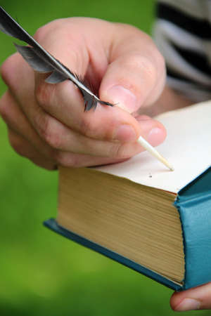 start a pen to write the story from scratch Stock Photo