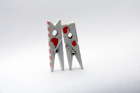 ery much in love with a pair of pegs with hearts