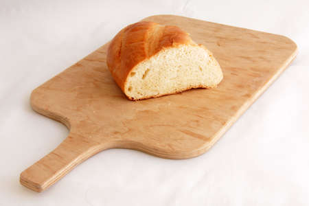 White bread on the board Stock Photo