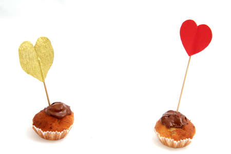 love chocolate cupcakes with different hearts