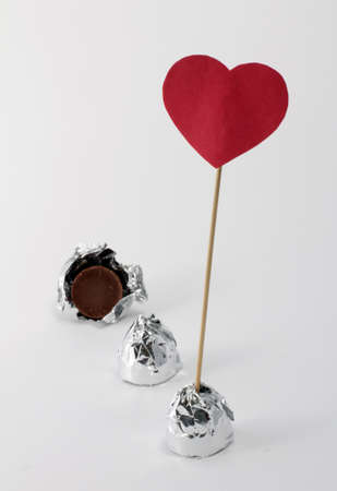 a sign of love for chocolates in foil