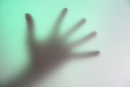 five fingers: five fingers of the human hand in the fog