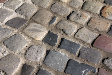 many great chubby old cobble stone pavement Stock Photo