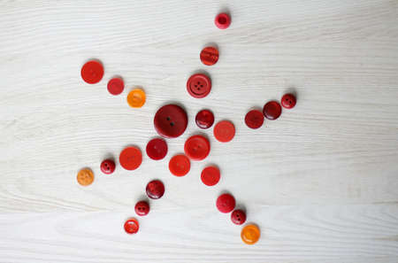 symbol of a star composed of red buttons Stock Photo