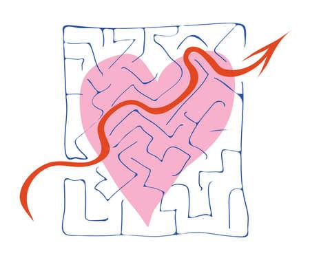 declaration of love: heart declaration of love in the form of balloon Illustration