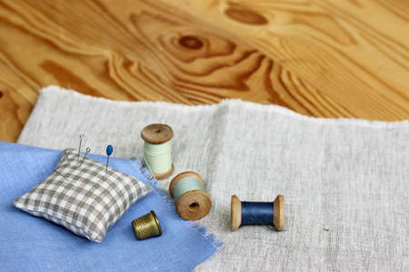 needlecraft product: homemade crafts hobby with thimble and thread