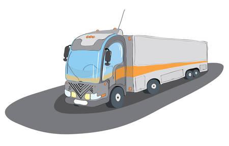 driving range: trucks for transportation of all types goods