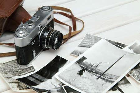 Stadtlandschaft auf alten Fotos zu tun, die alte Kamera