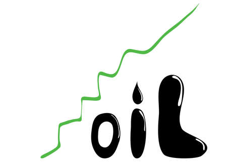 rising prices: rising oil prices the concept of green graph up Illustration