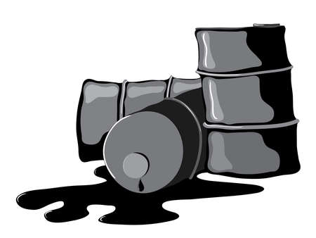 misfortune: dump the old crumpled barrel of oil refining waste