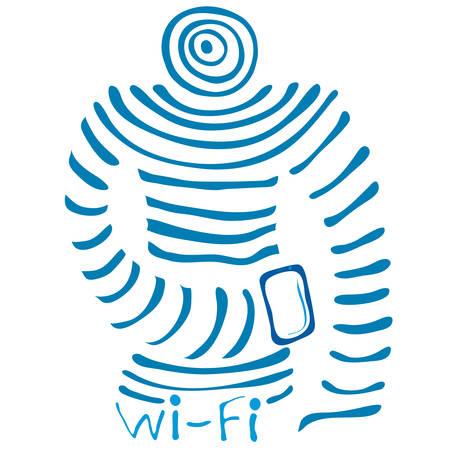 mega phone: Super Mega Wi fi connection in the form of human Vest