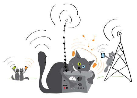 mega phone: Cats are more and more use of new technology innovations