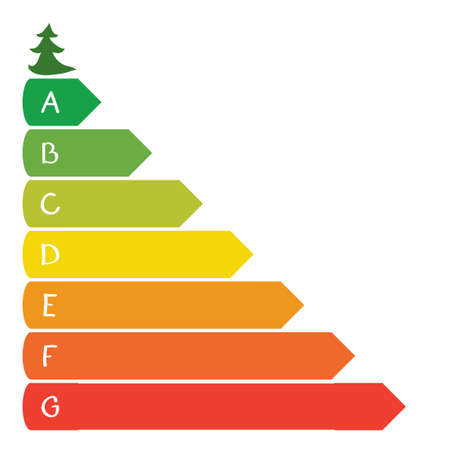 small tree: colored bars of different sizes with letters and a small tree  infographics environmental growth