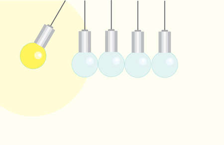 included one light bulb and some are turned off. bright idea is not like everyone else Ilustracja