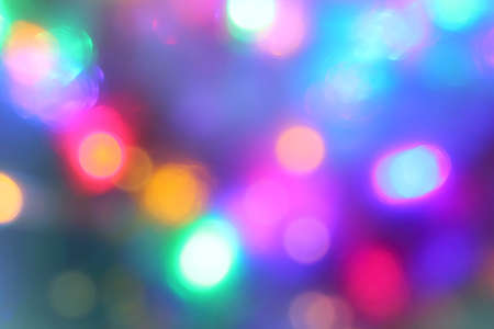 many multicolored abstractly blurry lights. festive extravaganza Foto de archivo