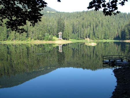 view of Sinevir lake, Ukrainian Carpatians Stock Photo - 817703