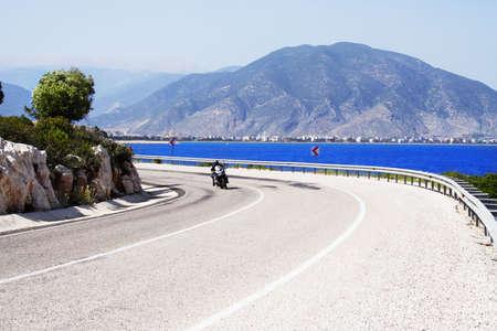 bike on a sunny coastline road