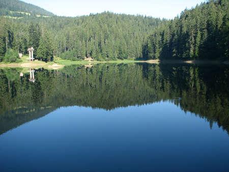 view of Sinevir lake, Ukrainian Carpatians Stock Photo - 1236339
