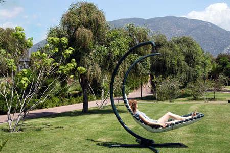girl resting on a hammock Stock Photo - 2262159