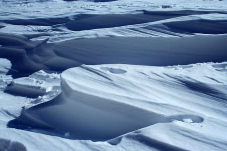 snow waves background. Wind made. Stock Photo - 2262131