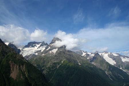 dombai: mountain landscape. Dombai, Caucasus, Russia Stock Photo