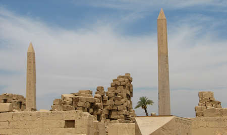 obelisks in the ancient temple. Luxor. Egypt  photo
