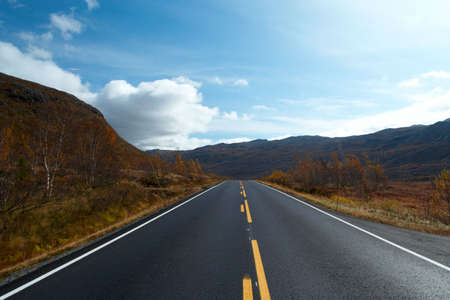 road at the norwegian mountains Stock Photo - 5738059