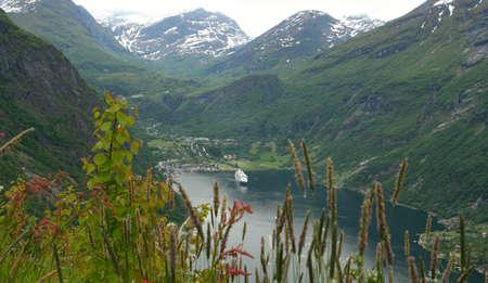 hardanger: panoramic view of the hardanger, Norway.