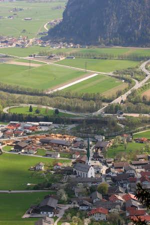 panorama of mountain village, Austria Stock Photo - 9683265