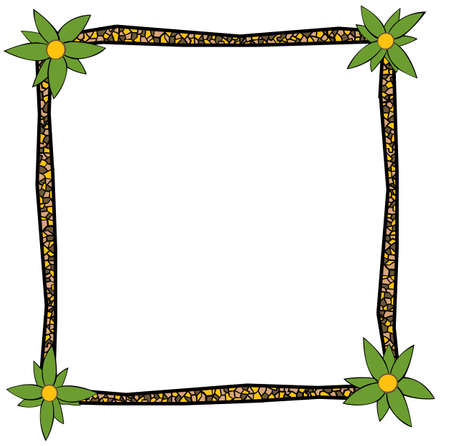 south of the border: background with the frame made at the african theme