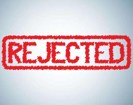 veto: rejected sign stamp image in grunge style Illustration