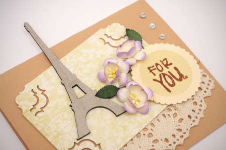 hand made scrapbooking post card   photo